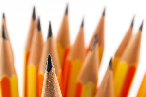 Pencils tips in macro