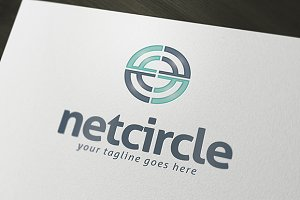 Net Circle Logo Template