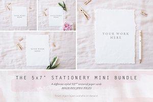 "BUNDLE - 5x7"" stationery mock ups x6"