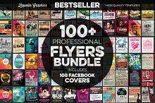 100+ Flyers Bundle + FB Covers
