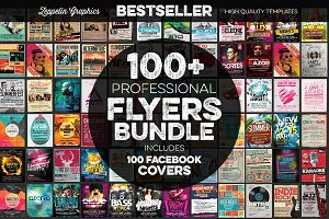$10 OFF 100+ Flyers Bundle + Covers