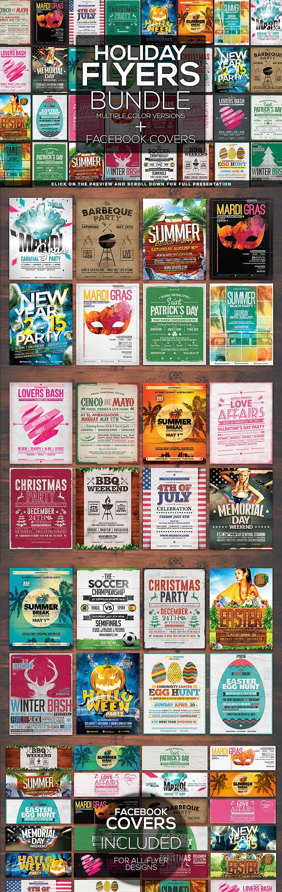 $10 OFF 100+ Flyers Bundle + Covers ~ Flyer Templates ~ Creative Market