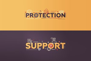Protection, Support Writing Banners