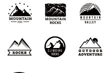 Mountains vector logo set