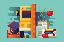 School concept items