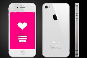 Smartphone interface 5 themes heart