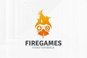 Fire Games Logo Template