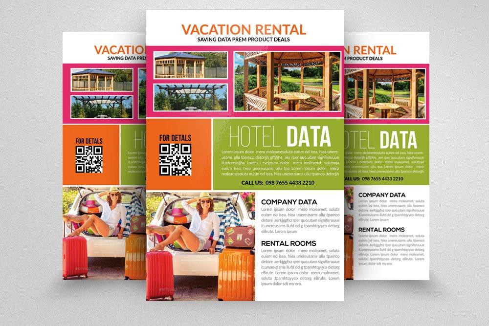 Vacation Rental Flyer Flyer Templates Creative Market