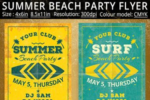 Summer Surf Party Vintage Flyer