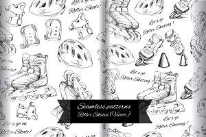 Seamless Pattern Roller Skates