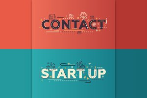 Contact, Start Up Lettering Banners