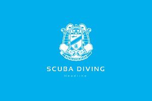 Scuba diving club logo.