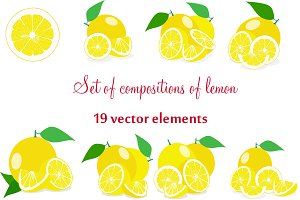 Set of compositions of lemon