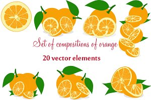 Set of compositions of orange