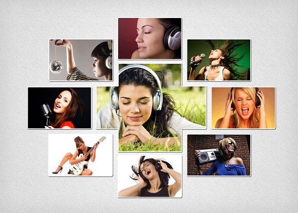 Photo Collage Template 03 Graphics Creative Market