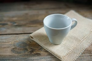 Empty cup for espresso