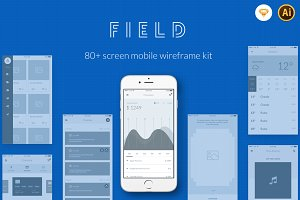 Field - Mobile Wireframe Kit