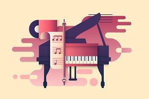 Piano design flat