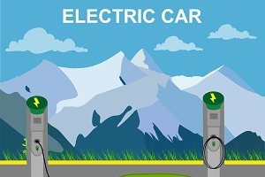 Electric car and charging station