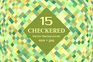 CHECKERED Vector Backgrounds