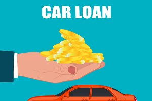 car loan concept, vector