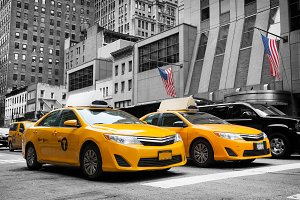 Yellow Cabs in Manhattan. NYC