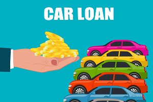 Car loan, buying, payment exchange