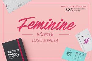 Feminine Minimal Logo