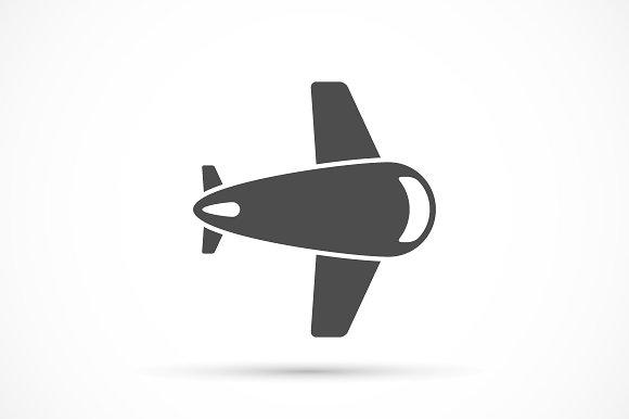 Airlane icon flat