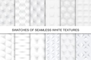 Swatches of seamless white textures.