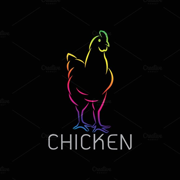 Vector image of an chicken design  in Graphics