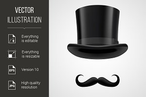 moustaches and stovepipe hat victori