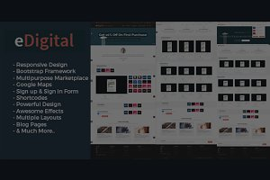 eDigital - Bootstrap Marketplace