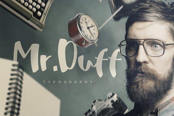 Mr. Duff Typeface - Script