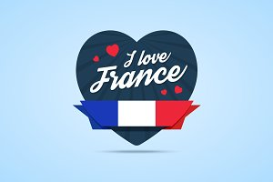 I love France badge