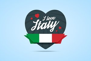 I love Italy badge
