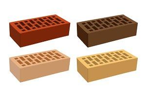 Color Bricks Icons Set