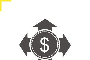 Money spending icon. Vector