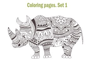 Coloring pages. Animals. Set1