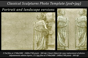 Classical Sculptures Photo Template