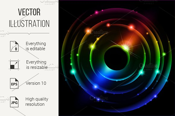 Abstract Solar system #4
