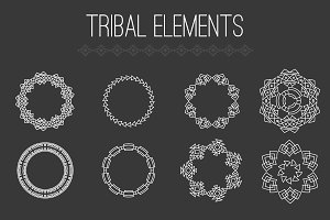 Tribal elements vector set