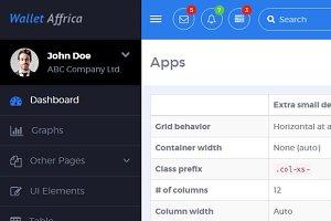 AppDash - Bootstrap Dashboard Navbar