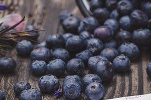 Spilled Blueberries