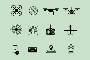 12 Drone Icons