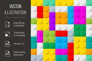 Plastic construction kit background.
