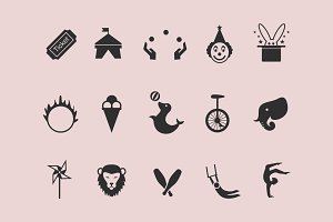 15 Circus Icons
