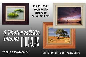 6 Photorealistic Frames Mockups