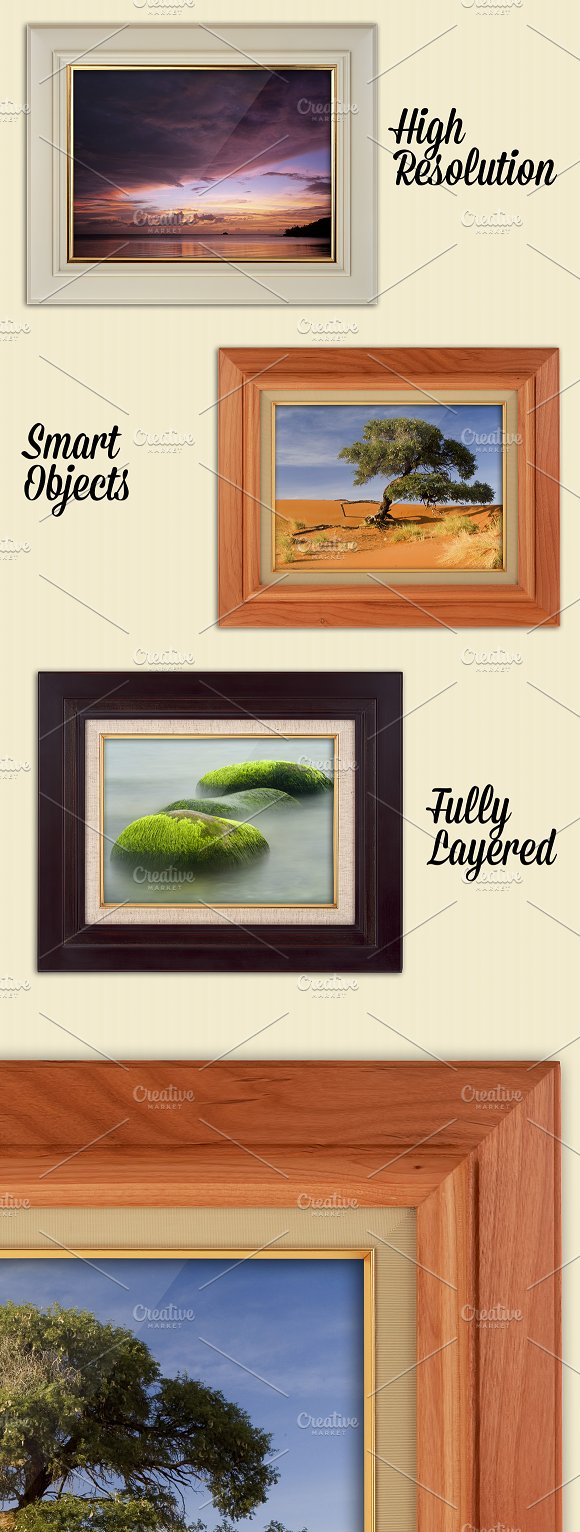 6 Photorealistic Frames Mockups in Product Mockups - product preview 1