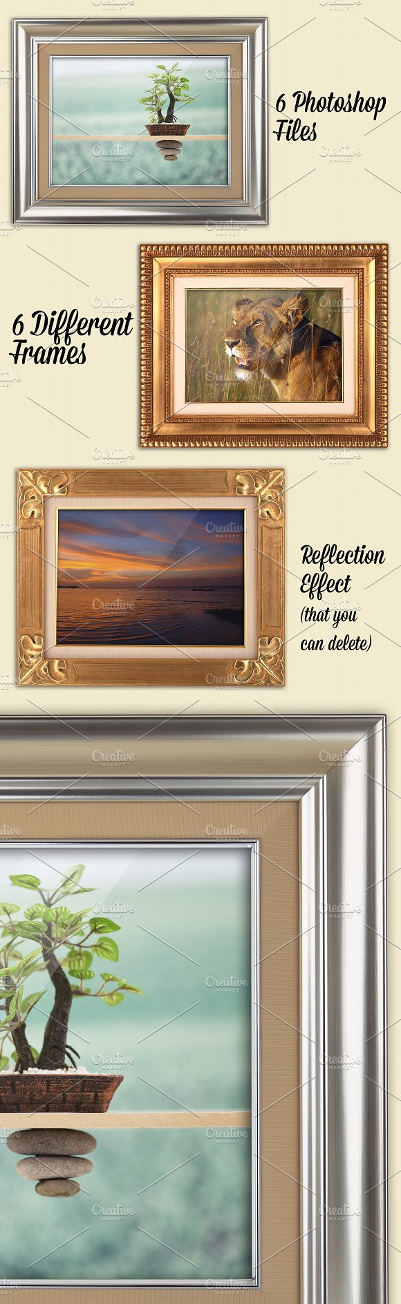 6 Photorealistic Frames Mockups in Product Mockups - product preview 2
